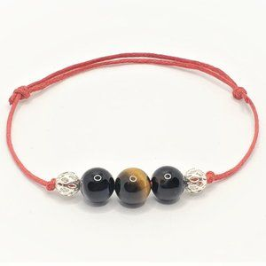 Jewelry - Triple Protection Red string + Agate + Tiger Eye